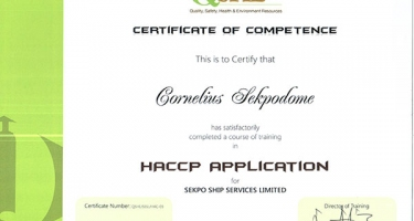 HACCP FOOD SAFETY MANAGEMENT SYSTEM IMPLEMENTATION